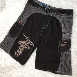 AFTCO 30 gray fishing shorts swim bathing suit